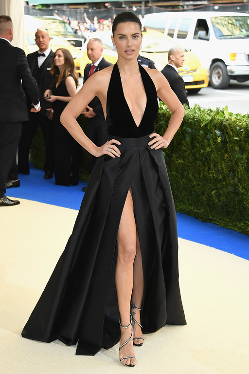 """. NEW YORK, NY - MAY 01: Adriana Lima attends the \""""Rei Kawakubo/Comme des Garcons: Art Of The In-Between\"""" Costume Institute Gala at Metropolitan Museum of Art on May 1, 2017 in New York City.  (Photo by Dia Dipasupil/Getty Images For Entertainment Weekly)"""