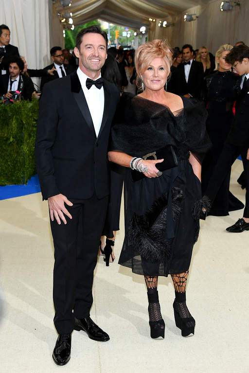 """. NEW YORK, NY - MAY 01:  Hugh Jackman and Deborra-Lee Furness attend the \""""Rei Kawakubo/Comme des Garcons: Art Of The In-Between\"""" Costume Institute Gala at Metropolitan Museum of Art on May 1, 2017 in New York City.  (Photo by Dia Dipasupil/Getty Images For Entertainment Weekly)"""