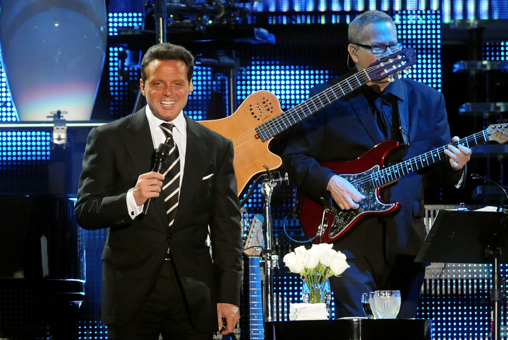 . Luis Miguel performs in Santo Domingo, Dominican Republic, Wednesday, May 11, 2011. (AP Photo/Manuel Diaz)