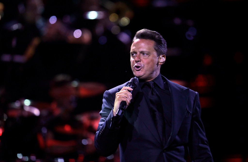 ". Mexican singer Luis Miguel, known as ""El Sol de Mexico,\"" performs at the 53rd annual Vina del Mar International Song Festival, in Vina del Mar, Chile, Wednesday Feb. 22, 2012. Luis Miguel and Marc Anthony headline the six-day festival, one of the largest musical events in South America. (AP Photo/Jorge Saenz)"