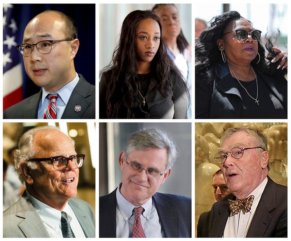 . This combination of file photos show key figures in the manslaughter trial of St. Anthony police officer Jeronimo Yanez in the July 2016 death of Philando Castile. Top row from left are Ramsey County Attorney John Choi; Diamond Reynolds, the girlfriend of Philando Castile, who live streamed his shooting on Facebook; Philando Castile\'s mother Valerie Castile; and bottom row from left are defense attorney Earl Gray; defense attorney Paul Engh; and defense attorney Thomas Kelly. On Friday, June 16, 2017, Yanez was acquitted in the killing of Castile, a black motorist, that drew widespread attention when video of the shooting\'s aftermath was streamed live. (David Joles, David Joles, Shari L. Gross, Elizabeth Flores/Star Tribune and Evan Frost/Minnesota Public Radio via AP)