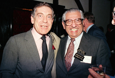 Morley Safer poses with Barry Zorthian