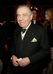 CBS news correspondent Morley Safer attends The Museum of Television and Radio's annual gala, this year honoring NBC News anchor Tom Brokaw, on February 19, 2004 at the Waldorf-Astoria Hotel, in New York City. (Photo by Evan Agostini/Getty Images)