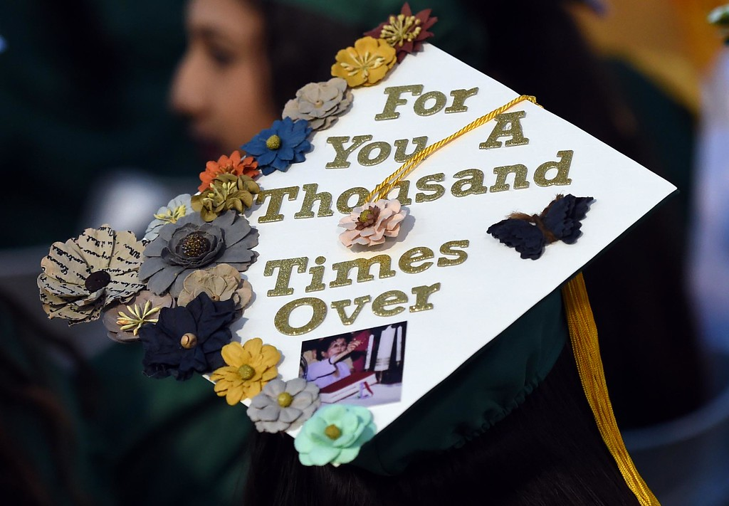 . Graduates during the Long Beach Poly Commencement Ceremony at Veterans Stadium  Long Beach Calif., Thursday, June ,15, 2016.            (Photo by Stephen Carr / Daily Breeze)