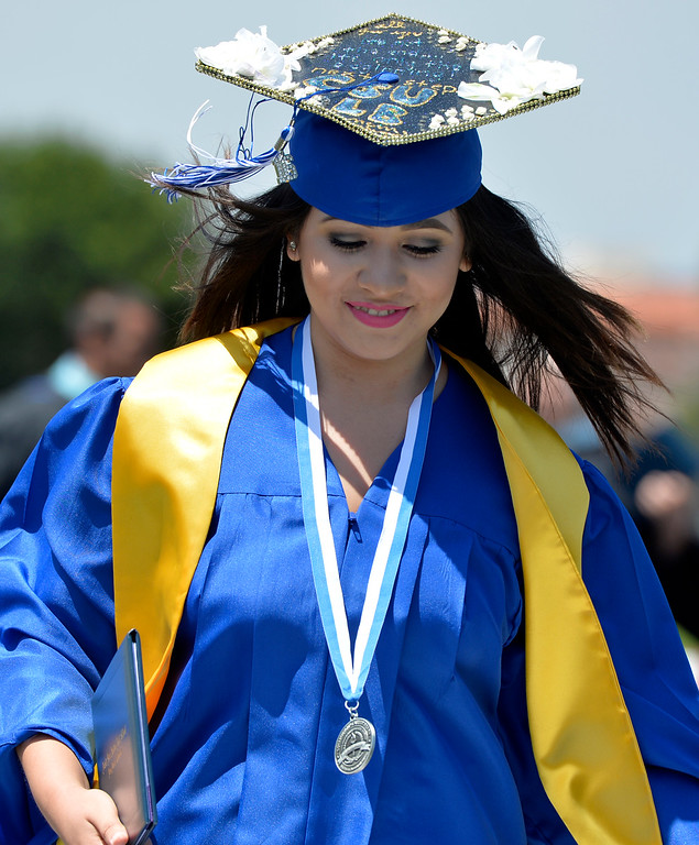 . Jordan High School graduation held its 81st commencement in Long Beach CA. Wednesday, June 15,  2016.  Jordan High graduated 714 students with 60% of them moving on to higher education with 1.2 million in student scholarships.  (Thomas R. Cordova/Southern California News Group)