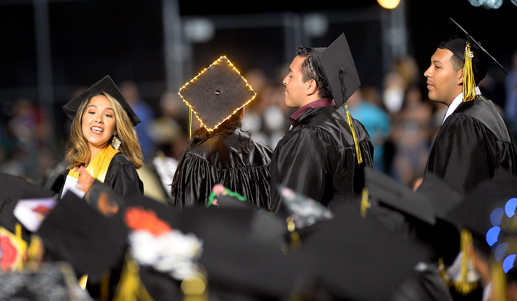 . Graduates participate in the 2016 Commencement at Bassett High School in La Puente on Wednesday June 1, 2016. (Photo by Keith Durflinger/Whittier Daily News)