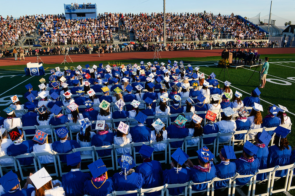. Graduates participate in the 61st Annual Commencement at San Marino High School in San Marino on Friday June 3, 2016. (Photo by Keith Durflinger/Whittier Daily News)
