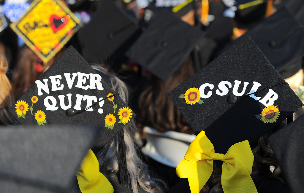 . Graduates participate in the 53rd Commencement at Rio Hondo College in Whittier on Thursday May 26, 2016. (Photo by Keith Durflinger/Whittier Daily News)