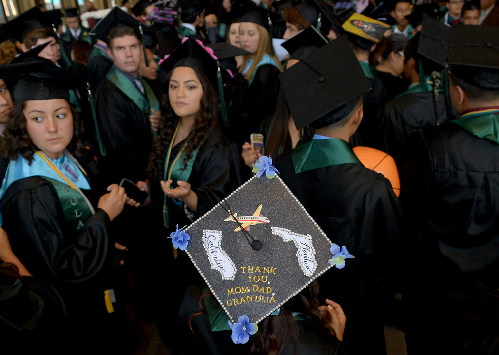 . Port of Los Angeles High School graduation commencement ceremony at the Long Beach Terrace Theater in Long Beach CA. Monday, June 6, 2016. (Thomas R. Cordova/Southern California News Group)