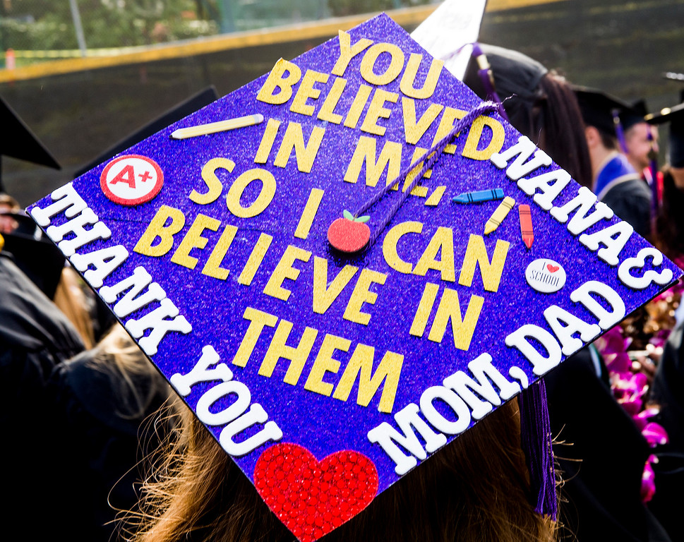 . Maria Contreras-Sweet,  U.S. Small Business Administration director, gave the commencement address at the Whittier College graduation at Memorial Stadium Friday, May13, 2016.Whittier College, founded by Quakers in 1887 is an independent four-year college, offering traditional liberal arts programs.  (Photo by Walt Mancini/Pasadena Star-News)