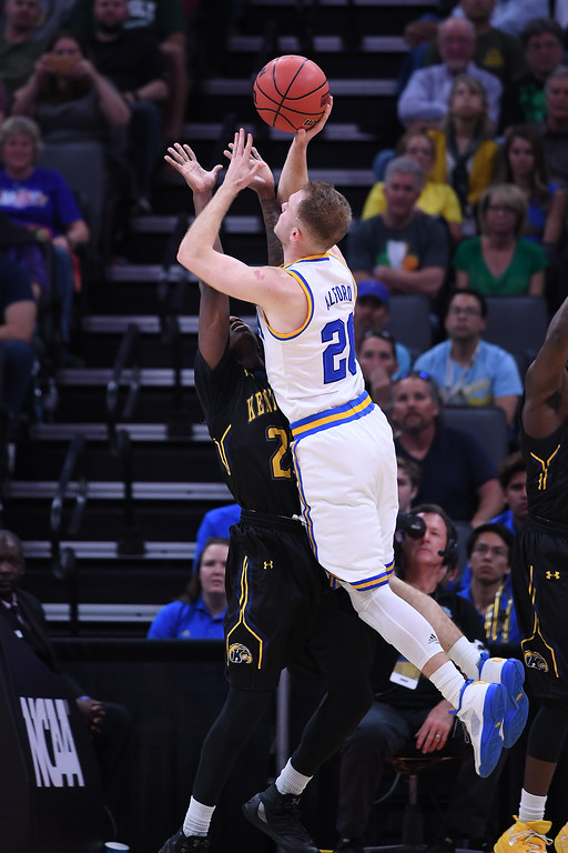 . SACRAMENTO, CA - MARCH 17: Bryce Alford #20 of the UCLA Bruins attempts a shot against the Kent State Golden Flashes during the first round of the 2017 NCAA Men\'s Basketball Tournament at Golden 1 Center on March 17, 2017 in Sacramento, California.  (Photo by Thearon W. Henderson/Getty Images)