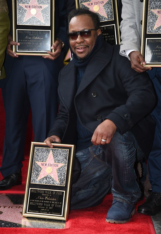 """. Singer Bobby Brown attends the \""""New Edition\"""" star ceremony on the Hollywood Walk of Fame on January 23, 2017 in Hollywood, California. (ANGELA WEISS/AFP/Getty Images)"""