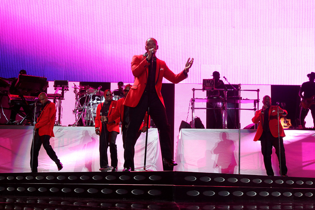 . NEW ORLEANS, LA - JULY 01:  Ronnie DeVoe from New Edition performs on stage during the 2016 ESSENCE Festival presented by Coca Cola at the Louisiana Superdome on July 1, 2016 in New Orleans, Louisiana.  (Photo by Bennett Raglin/Getty Images for 2016 Essence Festival)