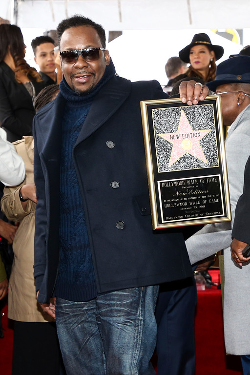 . Bobby Brown attends a ceremony honoring New Edition with the 2,600th star on the Hollywood Walk of Fame on Monday, Jan. 23, 2017, in Los Angeles. (Photo by John Salangsang/Invision/AP)