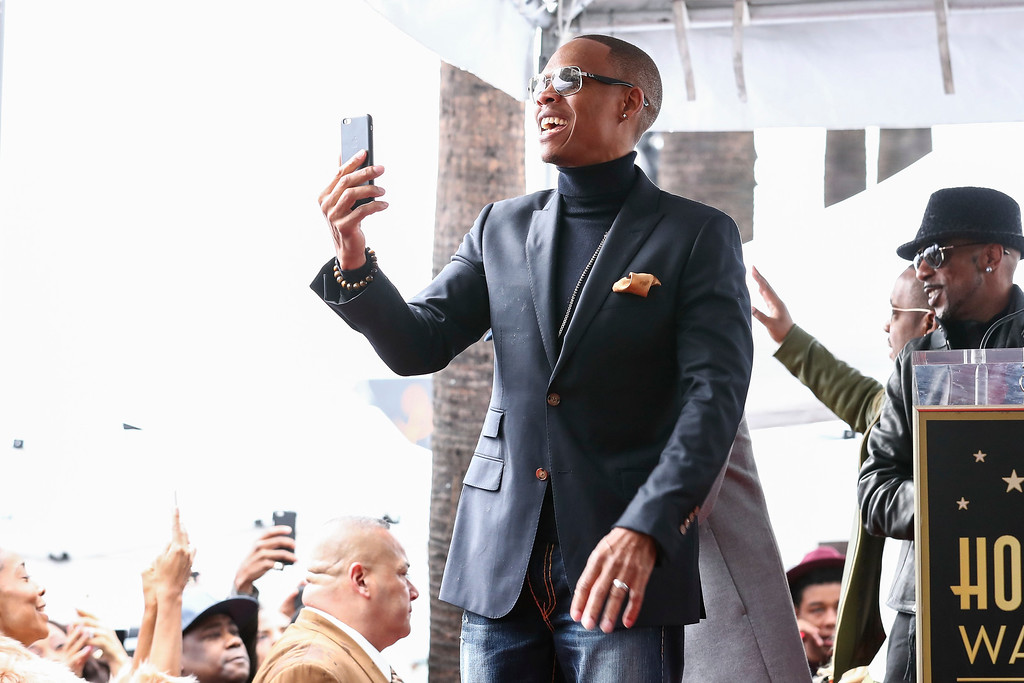 . Ronnie DeVoe attend a ceremony honoring New Edition with the 2,600th star on the Hollywood Walk of Fame on Monday, Jan. 23, 2017, in Los Angeles. (Photo by John Salangsang/Invision/AP)