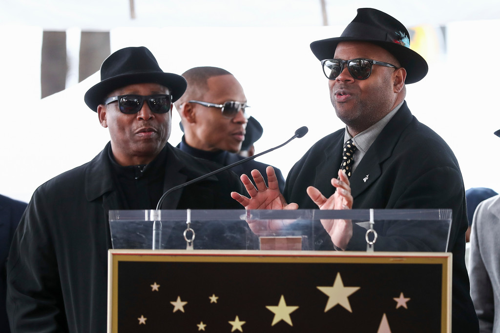 . Terry Lewis, left, and Jimmy Jam attend a ceremony honoring New Edition with the 2,600th star on the Hollywood Walk of Fame on Monday, Jan. 23, 2017, in Los Angeles. (Photo by John Salangsang/Invision/AP)