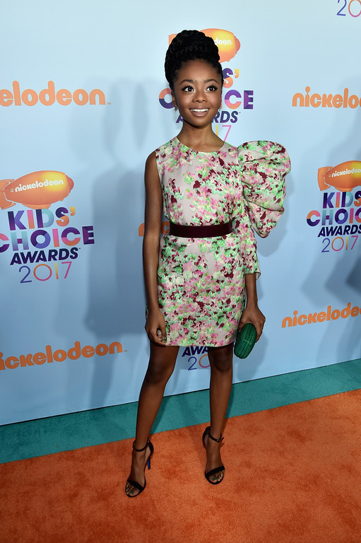 . LOS ANGELES, CA - MARCH 11:  Actor Skai Jackson at Nickelodeon\'s 2017 Kids\' Choice Awards at USC Galen Center on March 11, 2017 in Los Angeles, California.  (Photo by Alberto E. Rodriguez/Getty Images)