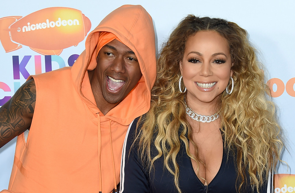 . Nick Cannon, left, and Mariah Carey arrive at the Kids\' Choice Awards at the Galen Center on Saturday, March 11, 2017, in Los Angeles. (Photo by Jordan Strauss/Invision/AP)
