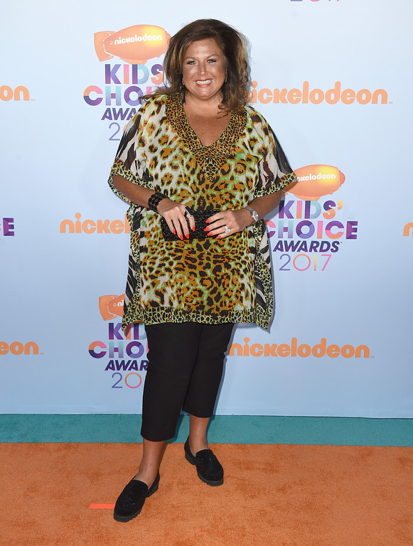 . Abby Lee Miller arrives at the Kids\' Choice Awards at the Galen Center on Saturday, March 11, 2017, in Los Angeles. (Photo by Jordan Strauss/Invision/AP)