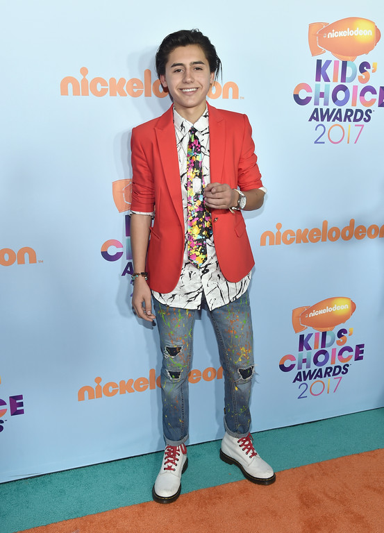 . LOS ANGELES, CA - MARCH 11: Actor Isaak Presley at Nickelodeon\'s 2017 Kids\' Choice Awards at USC Galen Center on March 11, 2017 in Los Angeles, California.  (Photo by Alberto E. Rodriguez/Getty Images)