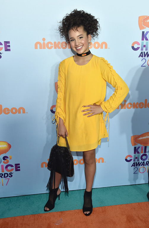 . LOS ANGELES, CA - MARCH 11: Actor Sofia Wylie at Nickelodeon\'s 2017 Kids\' Choice Awards at USC Galen Center on March 11, 2017 in Los Angeles, California.  (Photo by Alberto E. Rodriguez/Getty Images)