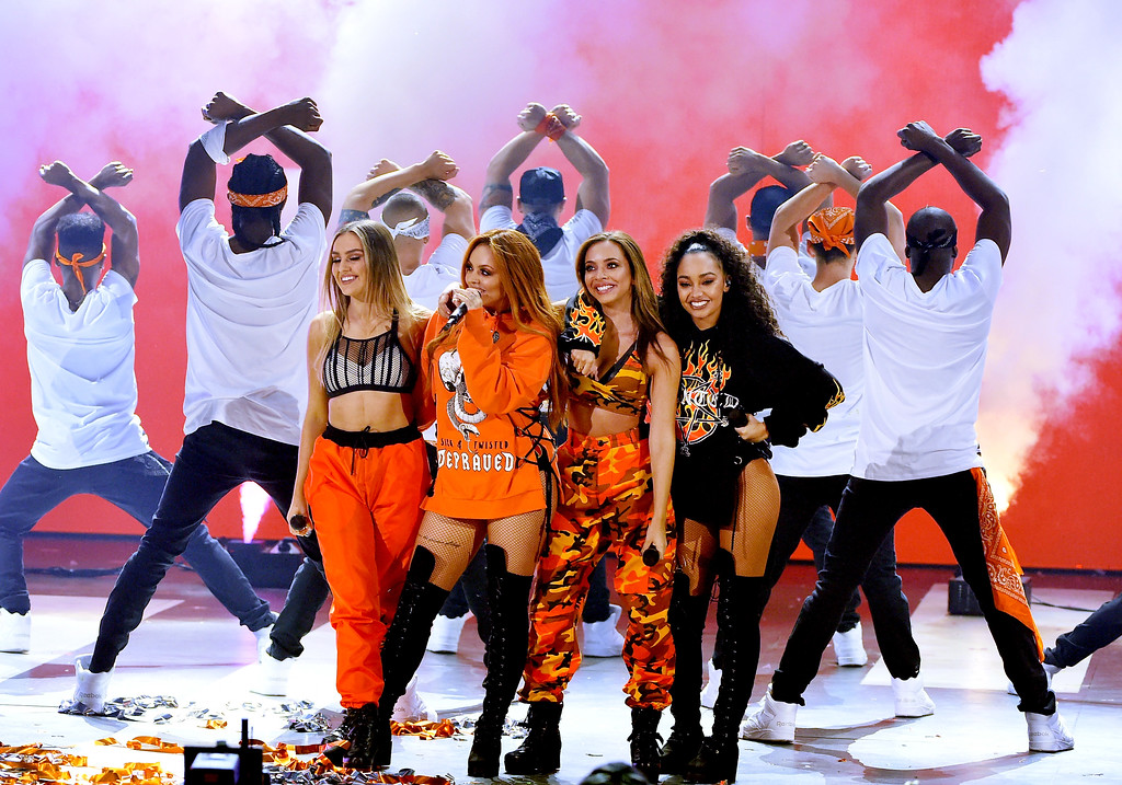 . LOS ANGELES, CA - MARCH 11:  Musical group Little Mix performs onstage at Nickelodeon\'s 2017 Kids\' Choice Awards at USC Galen Center on March 11, 2017 in Los Angeles, California.  (Photo by Kevin Winter/Getty Images)