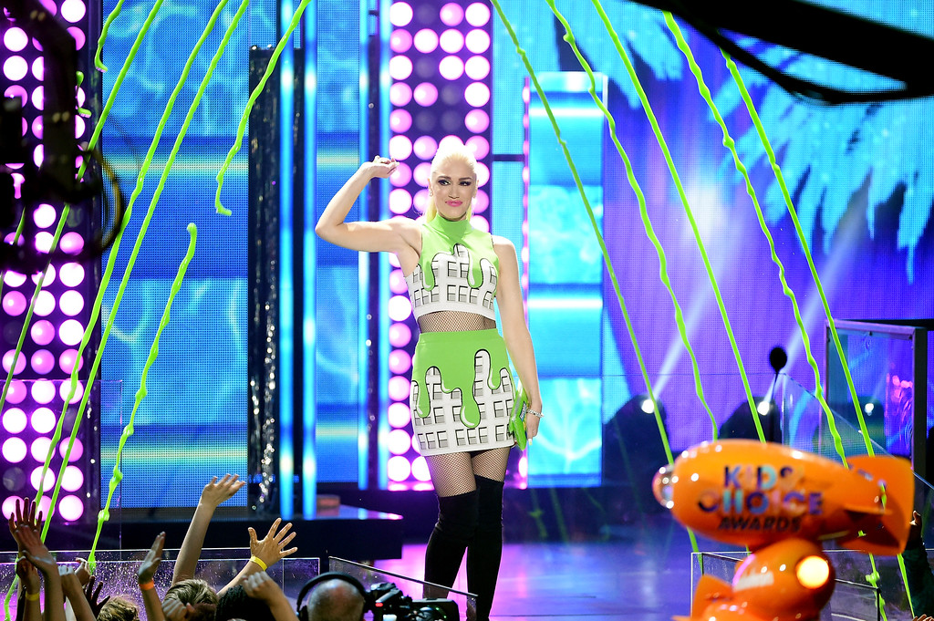 . LOS ANGELES, CA - MARCH 11:  Singer-songwriter Gwen Stefani speaks onstage at Nickelodeon\'s 2017 Kids\' Choice Awards at USC Galen Center on March 11, 2017 in Los Angeles, California.  (Photo by Kevin Winter/Getty Images)