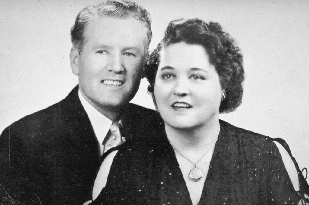 . This photo shows Vernon and Gladys Presley, Elvis\'s parents in 1948, in Tupelo, Mississippi.  (AP Photo)