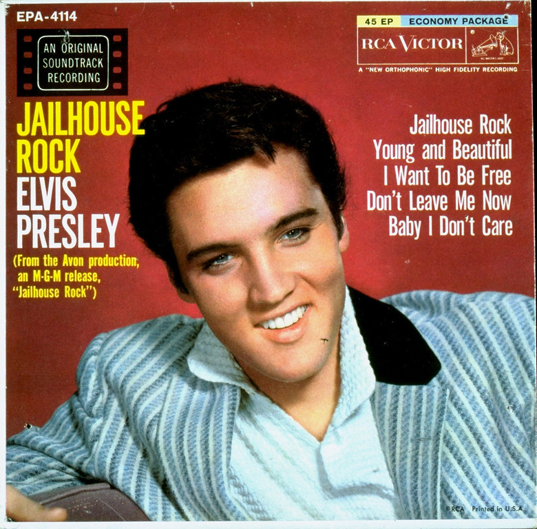 ". Elvis Presley\'s ""Jailhouse Rock\"" , from the film of the same name, was Billboard pop number 1, October 14, 1957.  (AP Photo)"