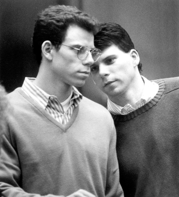 . Erik and Lyle Menendez plead not guilty to the murders of their parents.   (L.A. Daily News file photo)