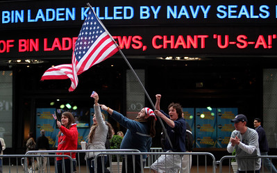 APTOPIX Bin Laden US Reaction