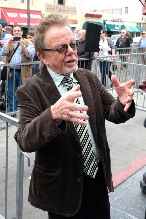 . Paul Williams attends the posthumous Walk of Fame ceremony for composer Jerry Goldsmith in Hollywood, on May 9, 2017. (CHRIS DELMAS/AFP/Getty Images)