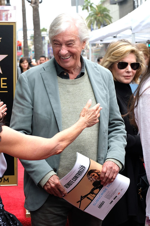 . Paul Verhoeven attends the posthumous Walk of Fame ceremony for composer Jerry Goldsmith in Hollywood, on May 9, 2017. (CHRIS DELMAS/AFP/Getty Images)