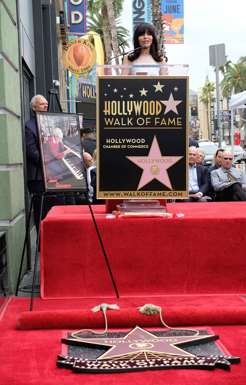 . Carol Goldsmith, wife of Jerry Goldsmith attends the posthumous Walk of Fame ceremony for composer Jerry Goldsmith in Hollywood, on May 9, 2017. (CHRIS DELMAS/AFP/Getty Images)