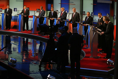 PHOTOS: Donald Trump and Republican rivals debate in Cleveland