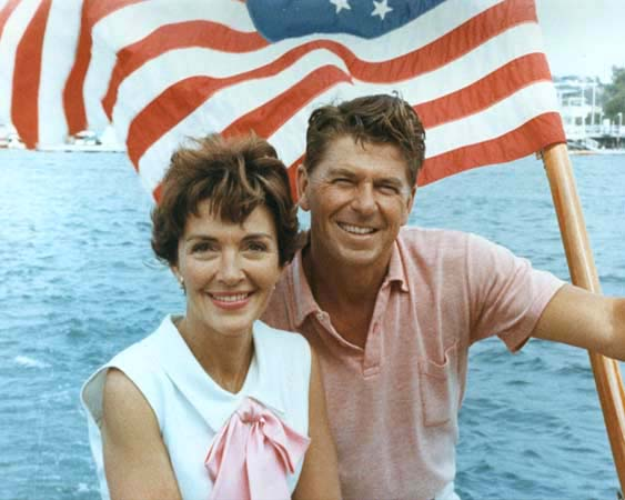 . Ronald Reagan and Nancy Reagan aboard a sailboat off Southern California, August 1964. Nancy Davis Reagan, wife of the late President Ronald Reagan, died Sunday, March 6, 2016, at her home in Los Angeles. She was 94.  Photo Credit: The Ronald Reagan Presidential Foundation