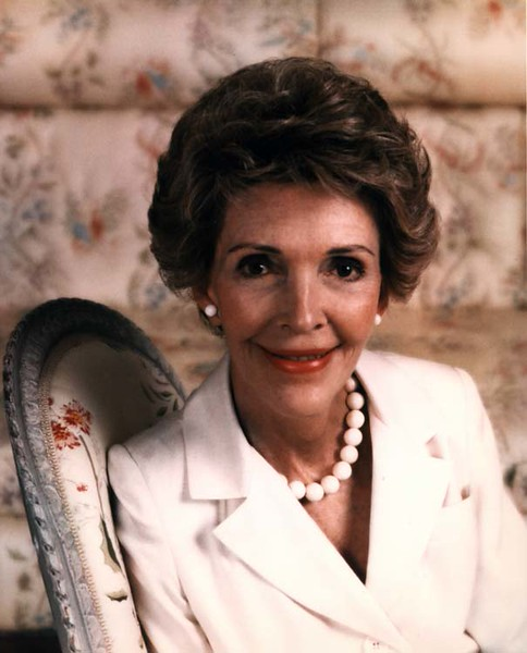 . Official Portrait of First Lady Nancy Reagan, 2/24/88.  Photo Credit: The Ronald Reagan Presidential Library and Museum