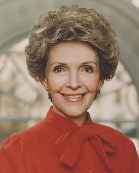 . Official Portrait of First Lady Nancy Reagan, 2/1/83. Nancy Davis Reagan, wife of the late President Ronald Reagan, died Sunday, March 6, 2016, at her home in Los Angeles. She was 94.  Photo Credit: The Ronald Reagan Presidential Library and Museum