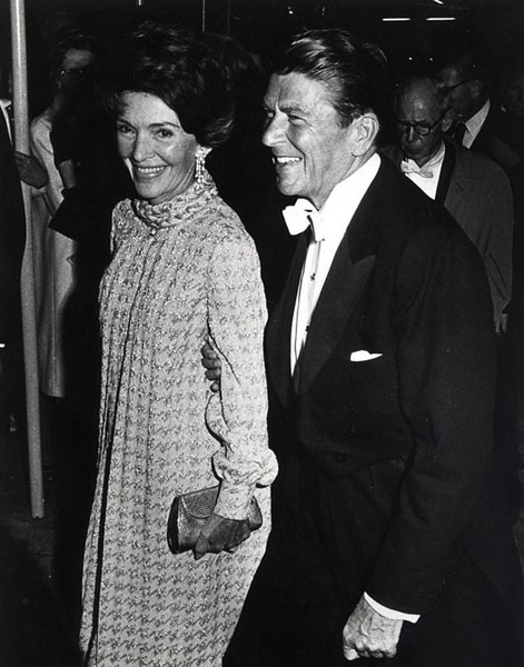 . Governor Ronald Reagan and California First Lady Nancy Reagan at the Governor\'s Inaugural Ball in Sacramento, California, January 1971.  Photo Credit: The Ronald Reagan Presidential Foundation