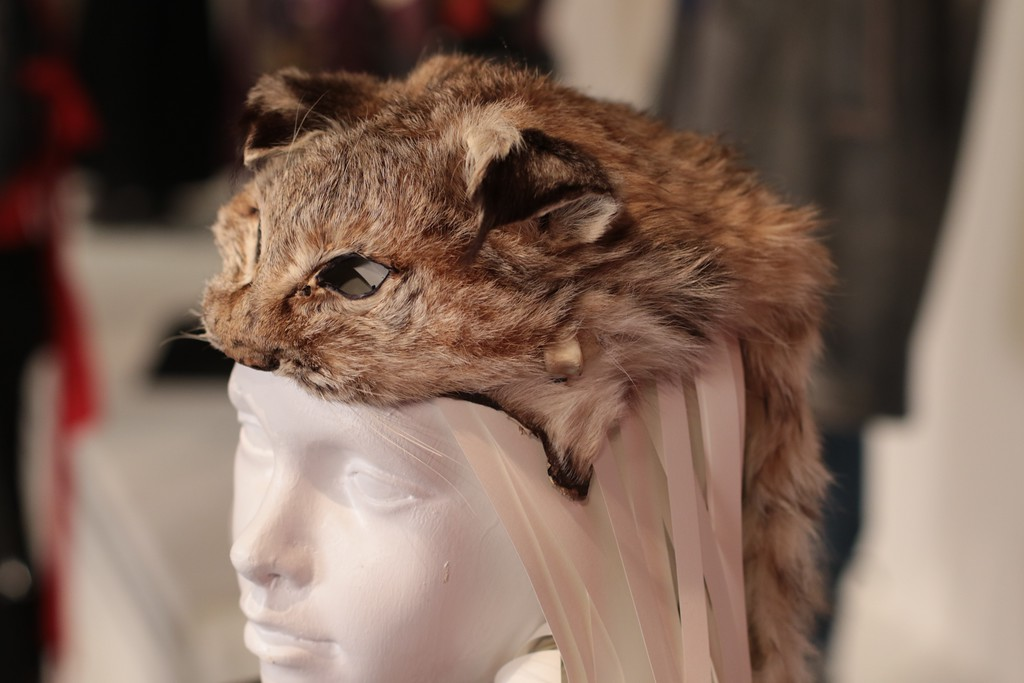 . Costume designer Courtney Hoffman from �Captain Fantastic� wanted to depict life in the backwoods. She searched out and found someone who uses roadkill in designs. One example from the film is this hat made from the skin of a bobcat. (Courtesy of ABImages)