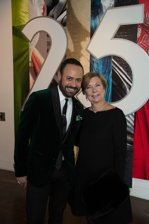 . Designer/stylist/author Nick Verreos and Barbara Bundy, executive director of the Fashion Institute of Design & Merchandising, attended a pre-exhibit opening gala (Courtesy of ABImages)