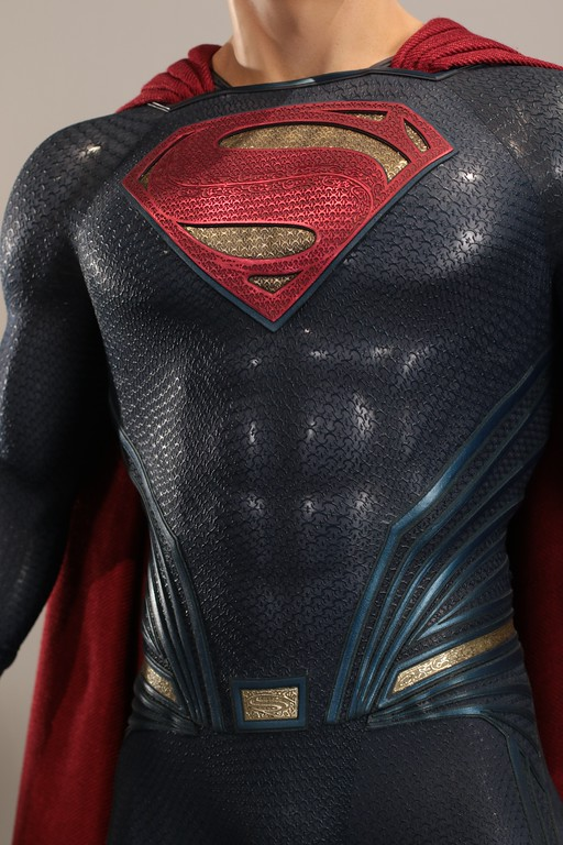 . Warner Bros. wanted even the slightest details to count and sought the help of someone with �kryptonite�� knowhow to translate Superman�s credo into Krypton. It can be seen woven into the costume. (Courtesy of ABImages)