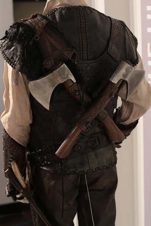 . Details count even when they are included in the backs of costumes such as the axes found on the vest of the huntsman in �The Huntsman: Winter�s War.�� (Courtesy of ABImages)