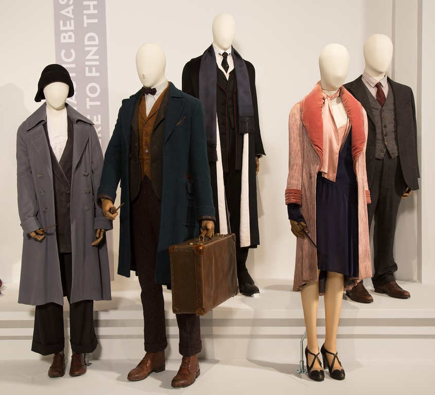 . Multiple Oscar winner for costume design, Colleen Atwood, is nominated again this year for her work on �Fantastic Beasts and Where To Find Them.�� Look for the wands in some of the mannequins� hands. (Courtesy of ABImages)