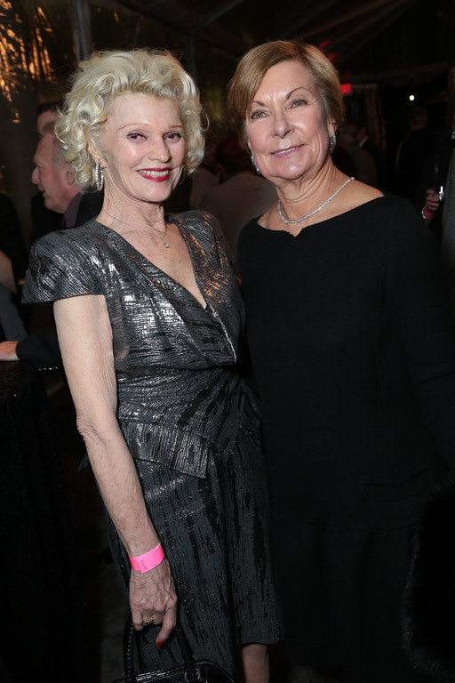 . Joni Smith joins Barbara Bundy, executive director of the Fashion Institute of Design & Merchandising, at the pre-exhibit opening gala. (Courtesy of ABImages)