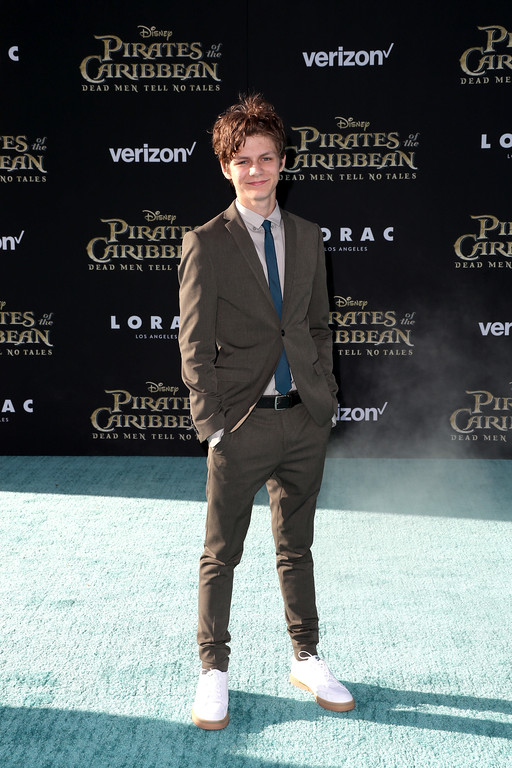 ". HOLLYWOOD, CA - MAY 18:  Actor Ty Simpkins attends the premiere of Disney\'s ""Pirates Of The Caribbean: Dead Men Tell No Tales\"" at Dolby Theatre on May 18, 2017 in Hollywood, California.  (Photo by Frederick M. Brown/Getty Images)"