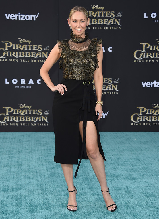 ". Kym Herjavec arrives at the Los Angeles premiere of ""Pirates of the Caribbean: Dead Men Tell No Tales\"" at the Dolby Theatre on Thursday, May 18, 2017. (Photo by Jordan Strauss/Invision/AP)"