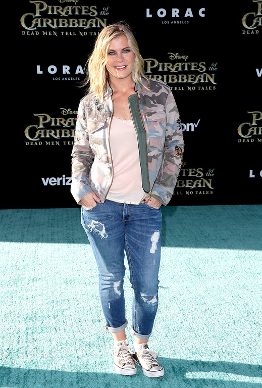 ". HOLLYWOOD, CA - MAY 18:  Actor Alison Sweeney attends the premiere of Disney\'s ""Pirates Of The Caribbean: Dead Men Tell No Tales\"" at Dolby Theatre on May 18, 2017 in Hollywood, California.  (Photo by Frederick M. Brown/Getty Images)"
