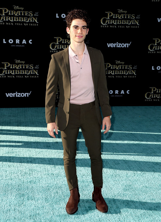 ". HOLLYWOOD, CA - MAY 18:  Actor Cameron Boyce attends the premiere of Disney\'s ""Pirates Of The Caribbean: Dead Men Tell No Tales\"" at Dolby Theatre on May 18, 2017 in Hollywood, California.  (Photo by Frederick M. Brown/Getty Images)"