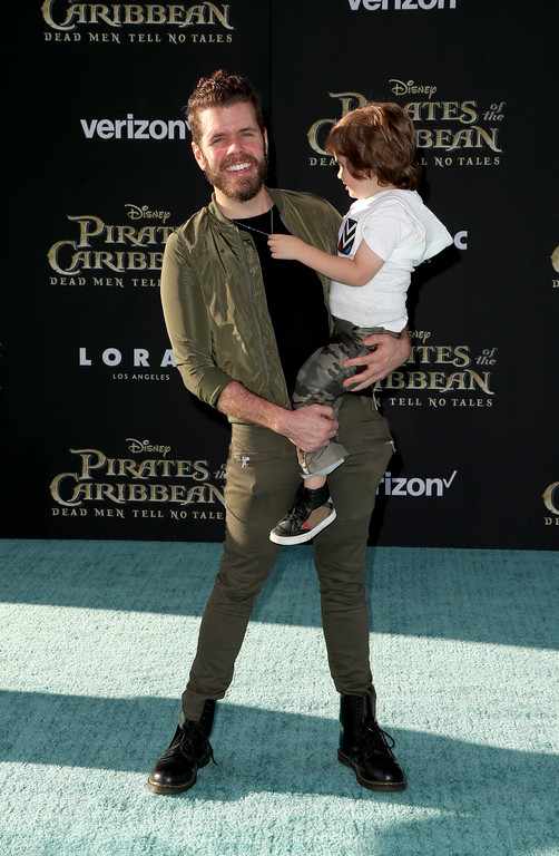 ". HOLLYWOOD, CA - MAY 18:  Perez Hilton attends the premiere of Disney\'s ""Pirates Of The Caribbean: Dead Men Tell No Tales\"" at Dolby Theatre on May 18, 2017 in Hollywood, California.  (Photo by Frederick M. Brown/Getty Images)"